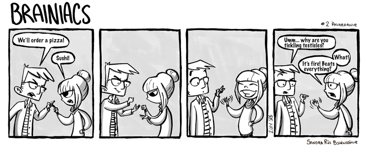 Second comic is about when I tried to win at rock, paper, scissor by quoting a show none of my Friends watched.