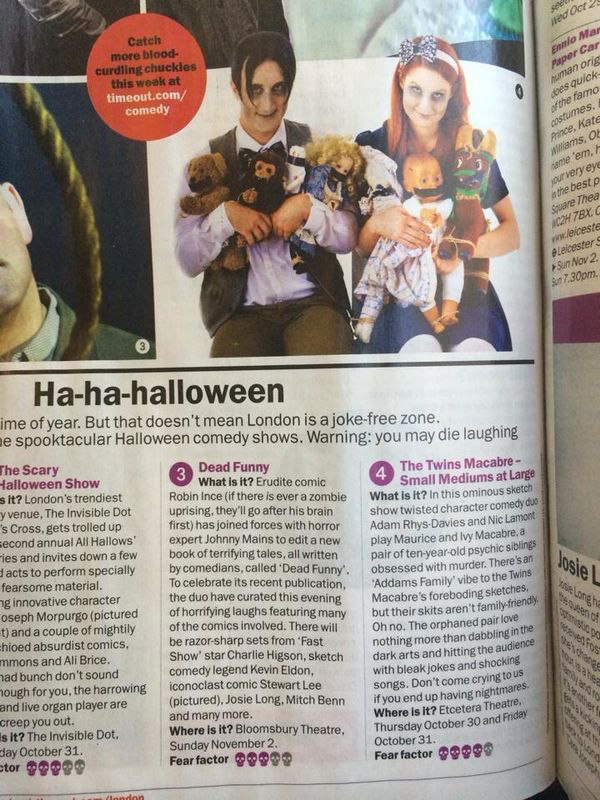 The Twins in Time Out Magazine.