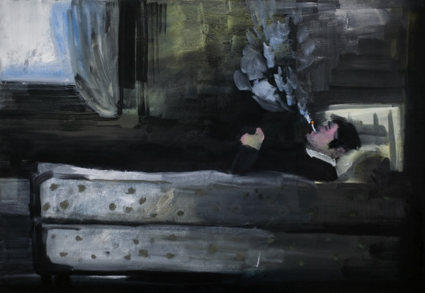 Rainer Fetting  Room of the Loner , 2008 Oil on canvas, 140 x 200 cm Courtesy the artist