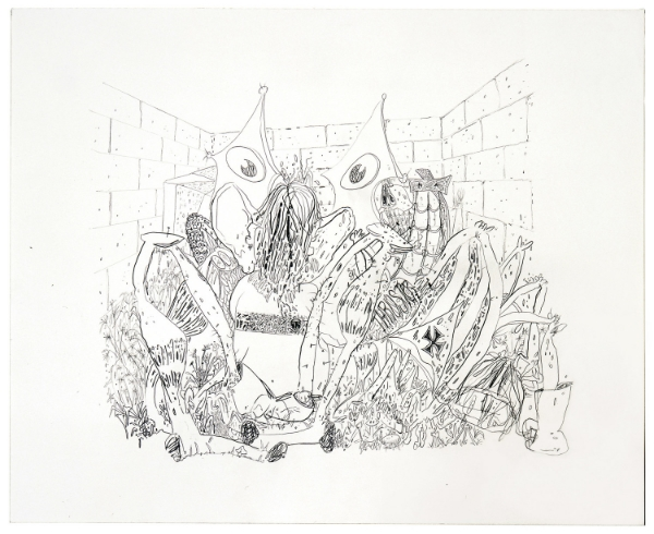 José Lerma  Thruster , 2005 Graphite on paper 35,5 x 43 cm Courtesy the artist and Andrea Rosen Gallery