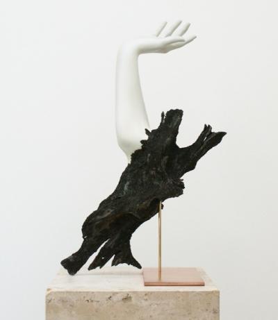 Rein Vollenga Untitled, 2010 Acrylic, wood, brass, copper, soil, paint 61 x 31 x 21.5 cm