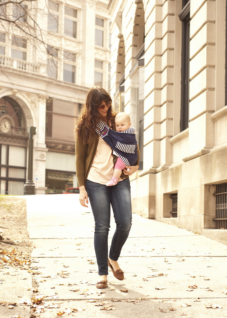 We Love this photo from one of our fav bloggers  Jen Loves Kev  wearing our Navy/French Stripe in the streets of New York!