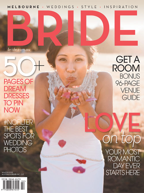 Featured in Bride Magazine Sydney Issue 83 Winter 2015, 'Vintage Romance' pg.60-71