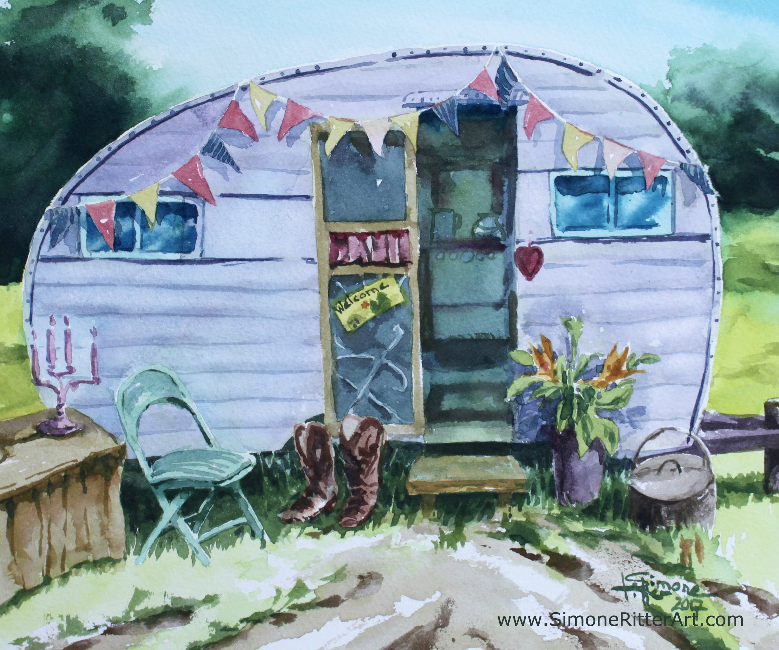 Simone-Ritter-Art-1953-King-Camper-Queenie-2017-watercolour.jpg