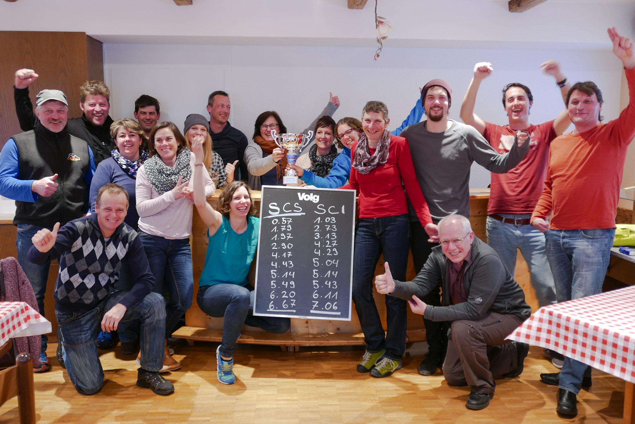 Knappe 39 Hundertstelsekunden bringen den Pokal nach Seelisberg.