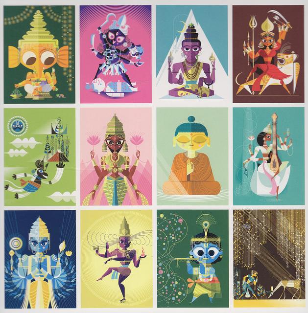 The Big Poster Bookof Hindu Deities - Written & Illustrated by Sanjay Patel