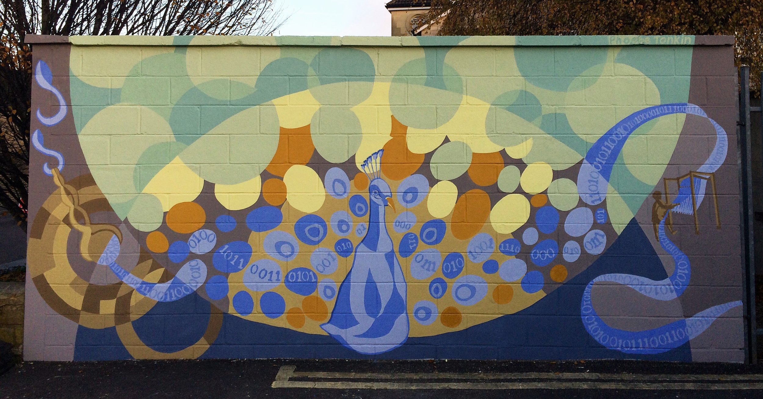 The finished mural - Martingate Centre, Corsham, Wiltshire