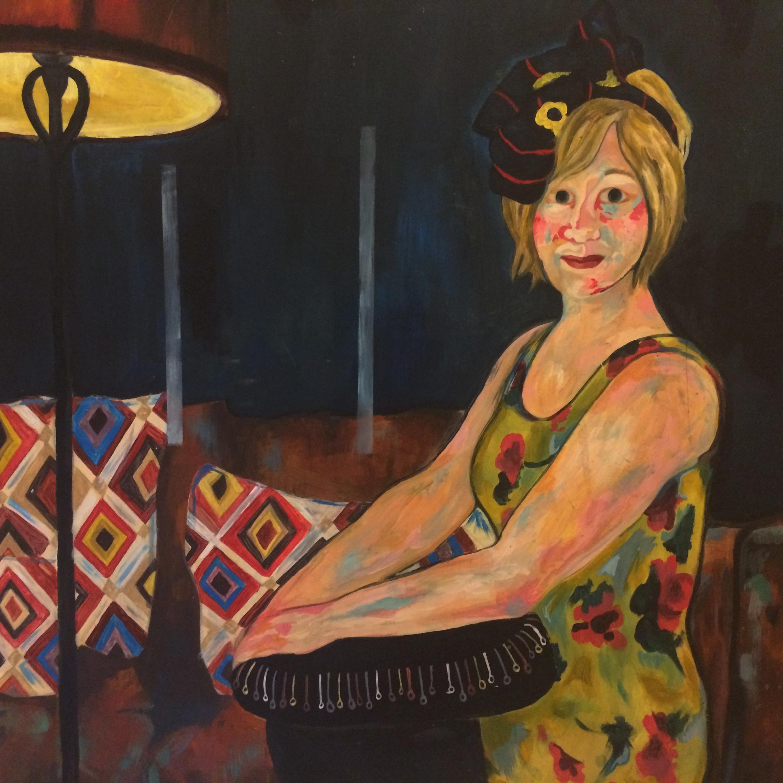 Rosie  by Phoebe Tonkin.Arcylic on hardboard
