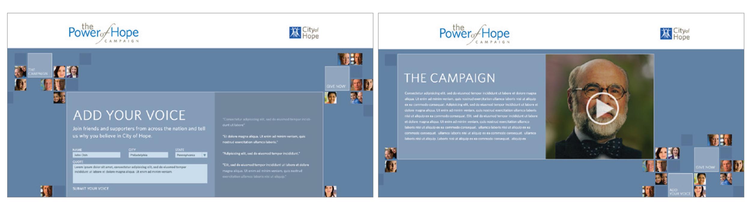Kelsh Wilson Design / City of Hope / Campaign Communications / Case Study