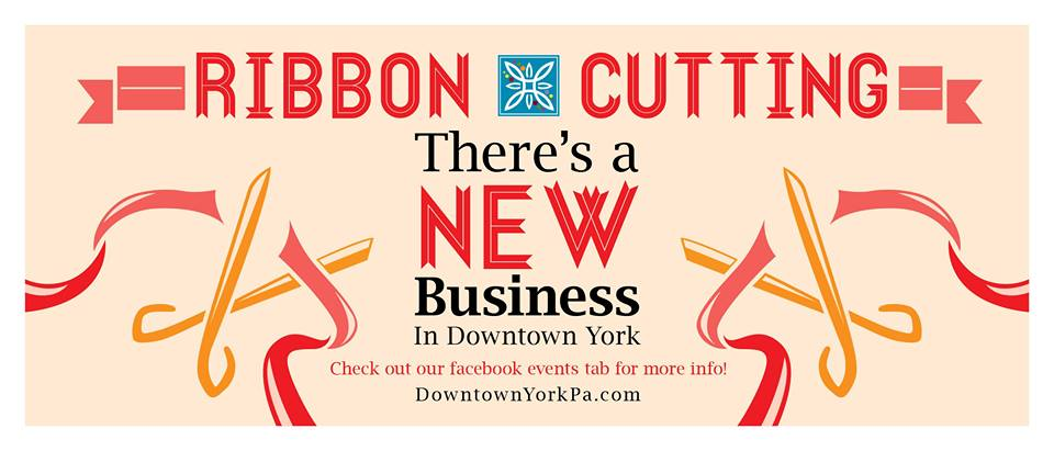 New business ribbon cutting in Downtown York