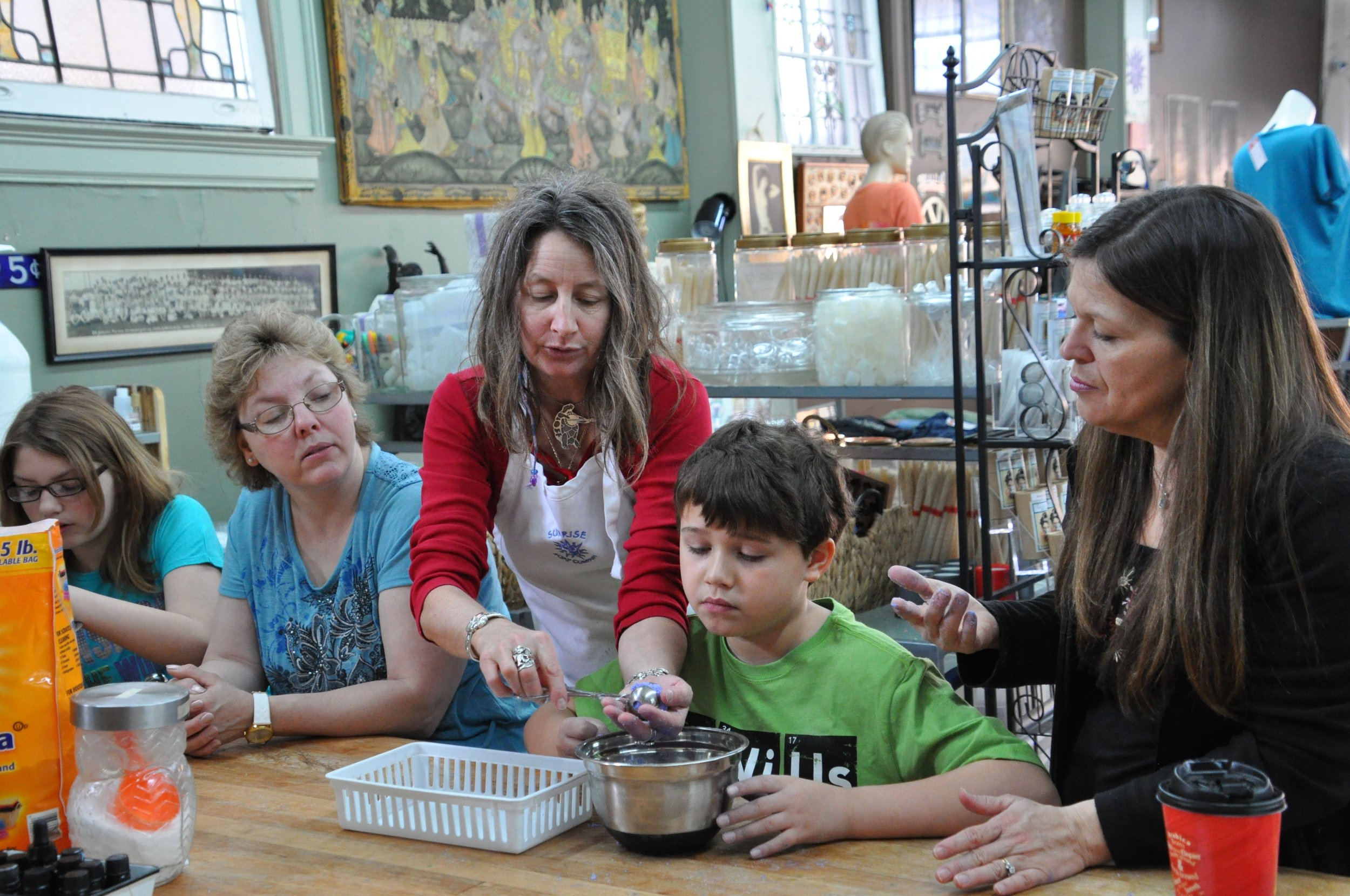 Everyone can be a maker at Sunrise Soap Company, just one of many kid-friendly attractions in Downtown York. Photo courtesy of MidAtlanticDayTrips.com.