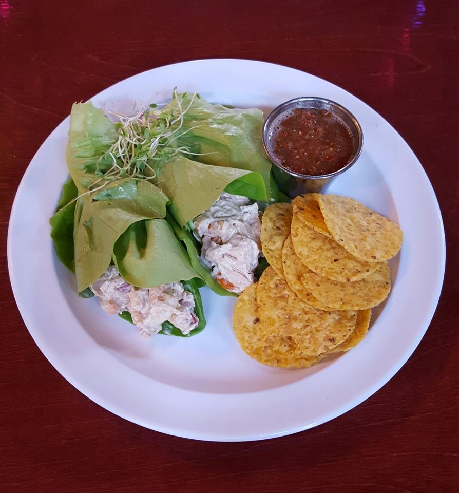 Refuel your body with Chicken Salad Lettuce Wraps from the Corner Cabinet. Photo courtesy of the Corner Cabinet.