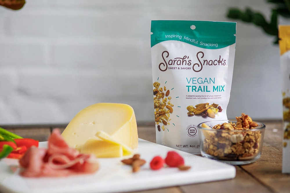 Vegan Trail Mix from Sarah's Snacks makes for a healthy treat to power your rail trail adventures. Photo courtesy Sarah's Snacks.