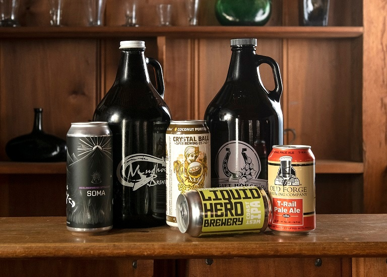 Craft beer from each of Downtown York's six breweries.
