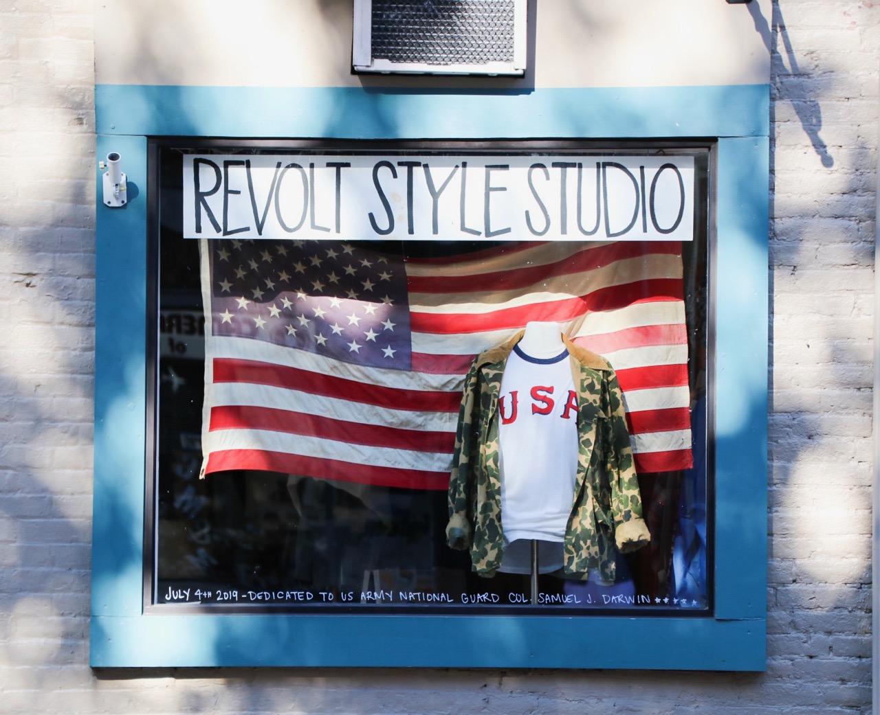 Revolt Style Studio Patriotic Window Display
