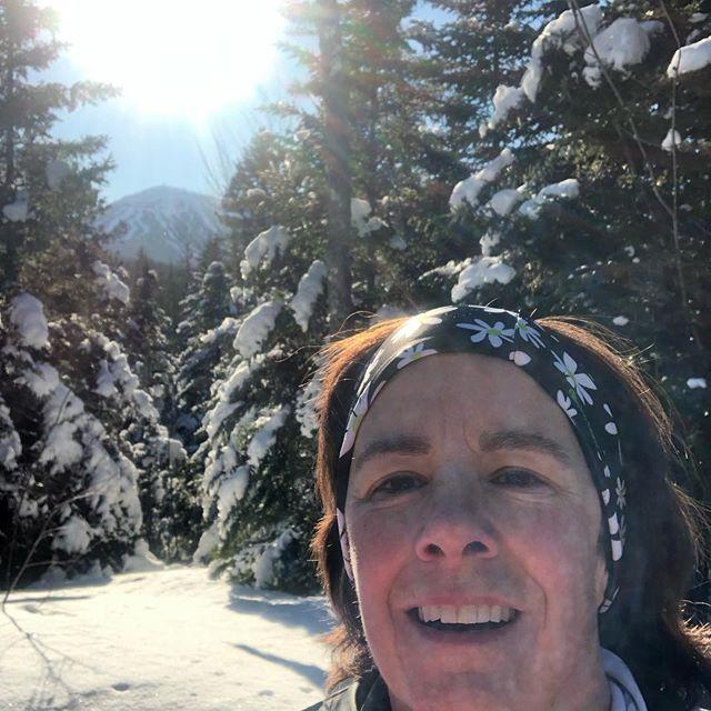 Such a nice day, had to sneak in a xc ski on my fav trail 10.  #sugarloaf