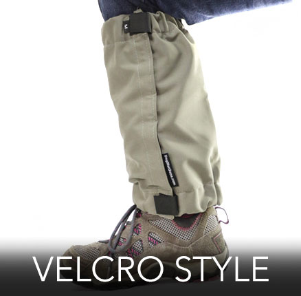 Tick Repelling Gaiters come in 3 styles and 4 sizes