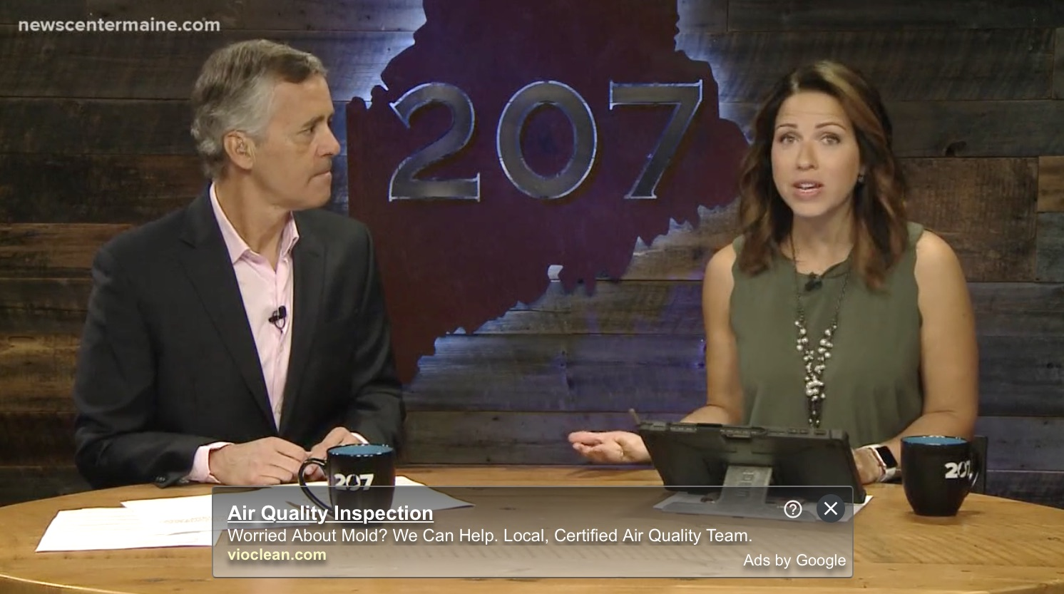 JULY 2019:  News Center Maine 207 interview:  Maine clothing keeping ticks and mosquitoes at bay.