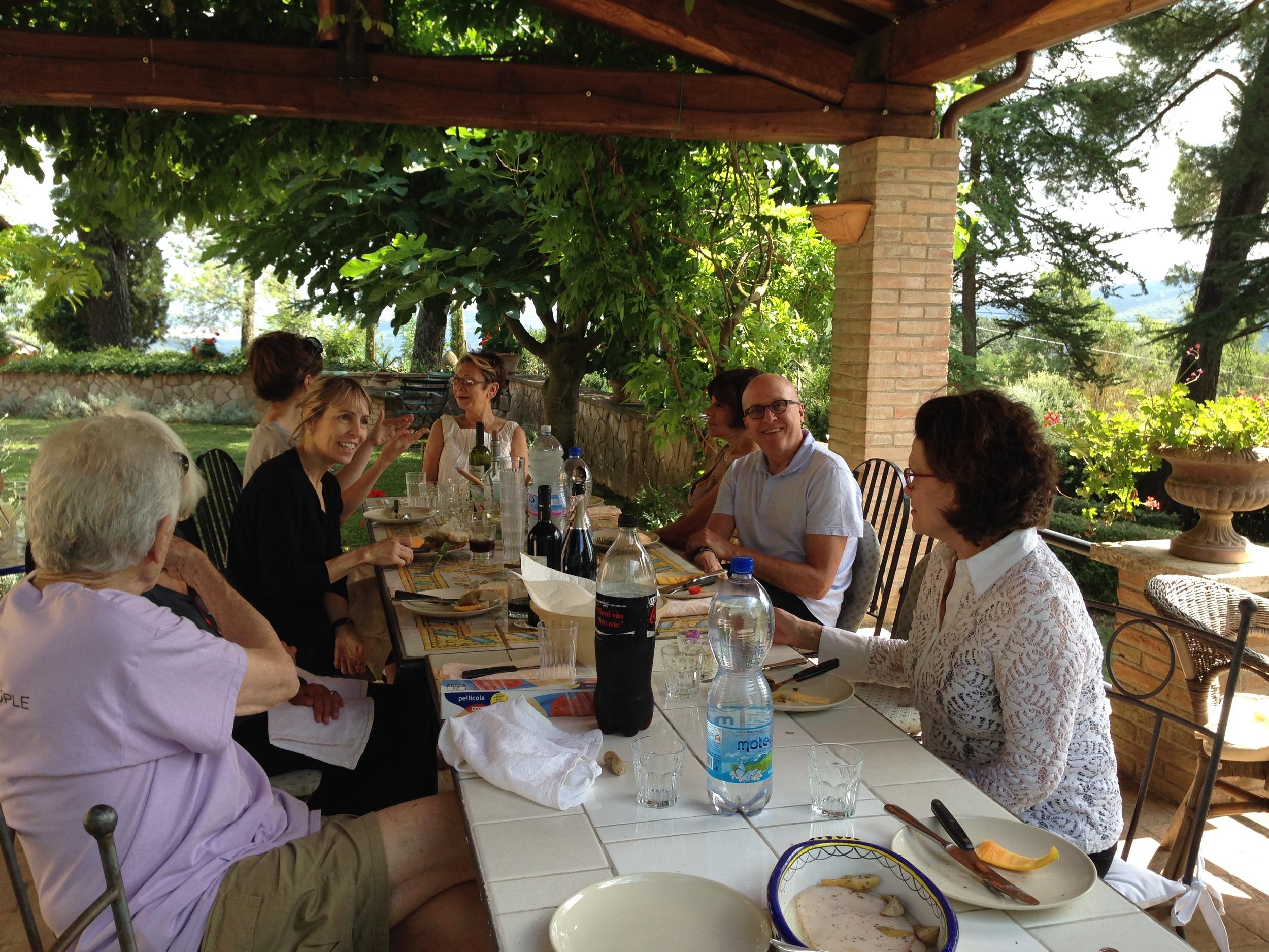 Dining al fresco under the pergola.