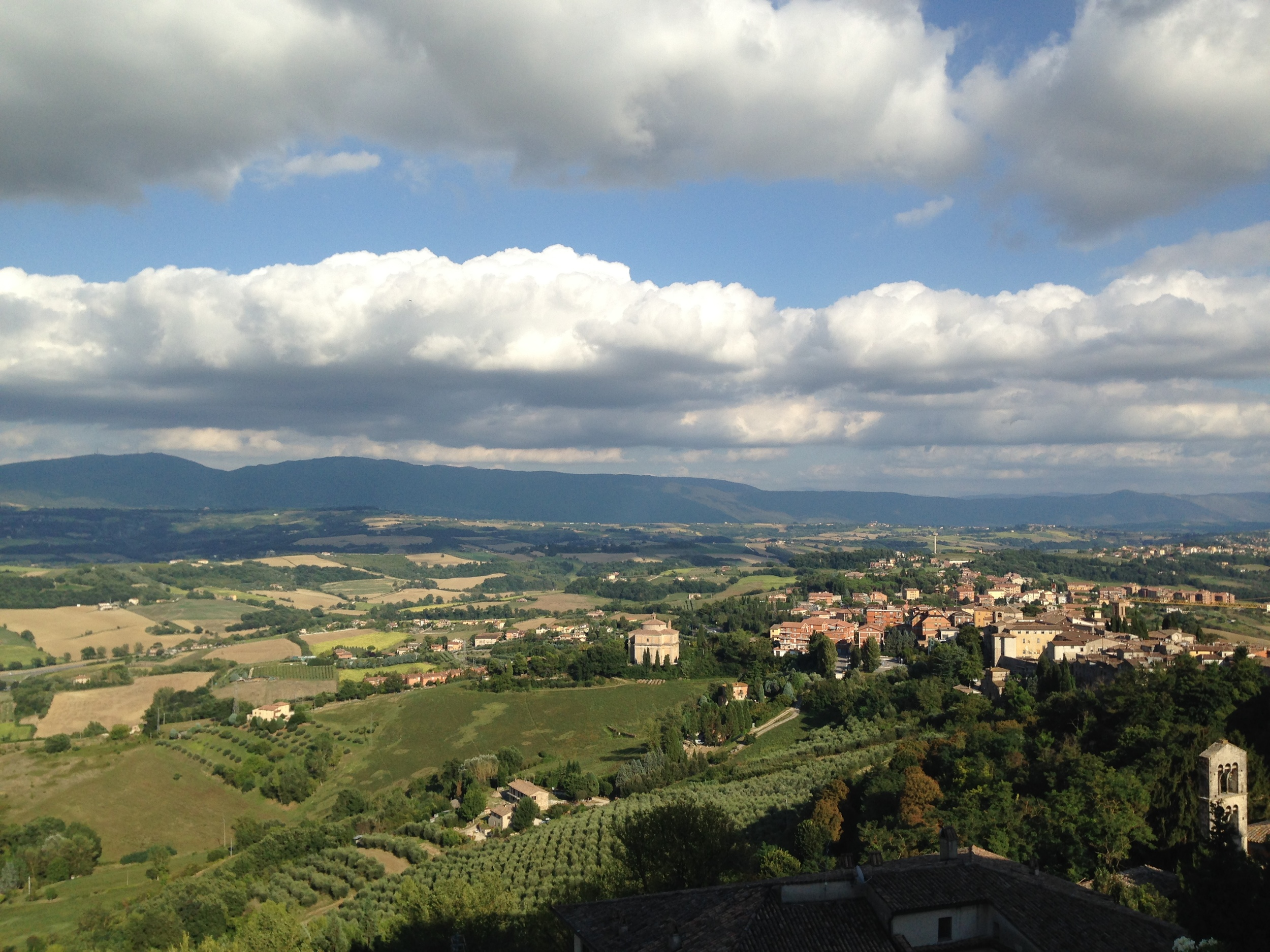 The fertile landscape of Umbria.