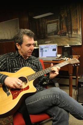 Mark Cutler in his studio. Photo credit: The Providence Journal/Freida Squires, December 17, 2013