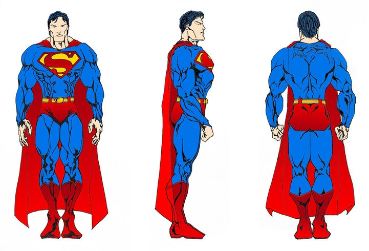 Superman Turnaround  by  Mark Hossain . Superman is a trademark of DC Comics.