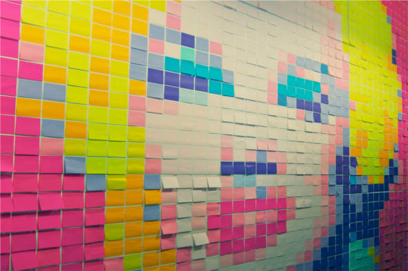 Marilyn in Post-Its , by  Valtech Sweden office