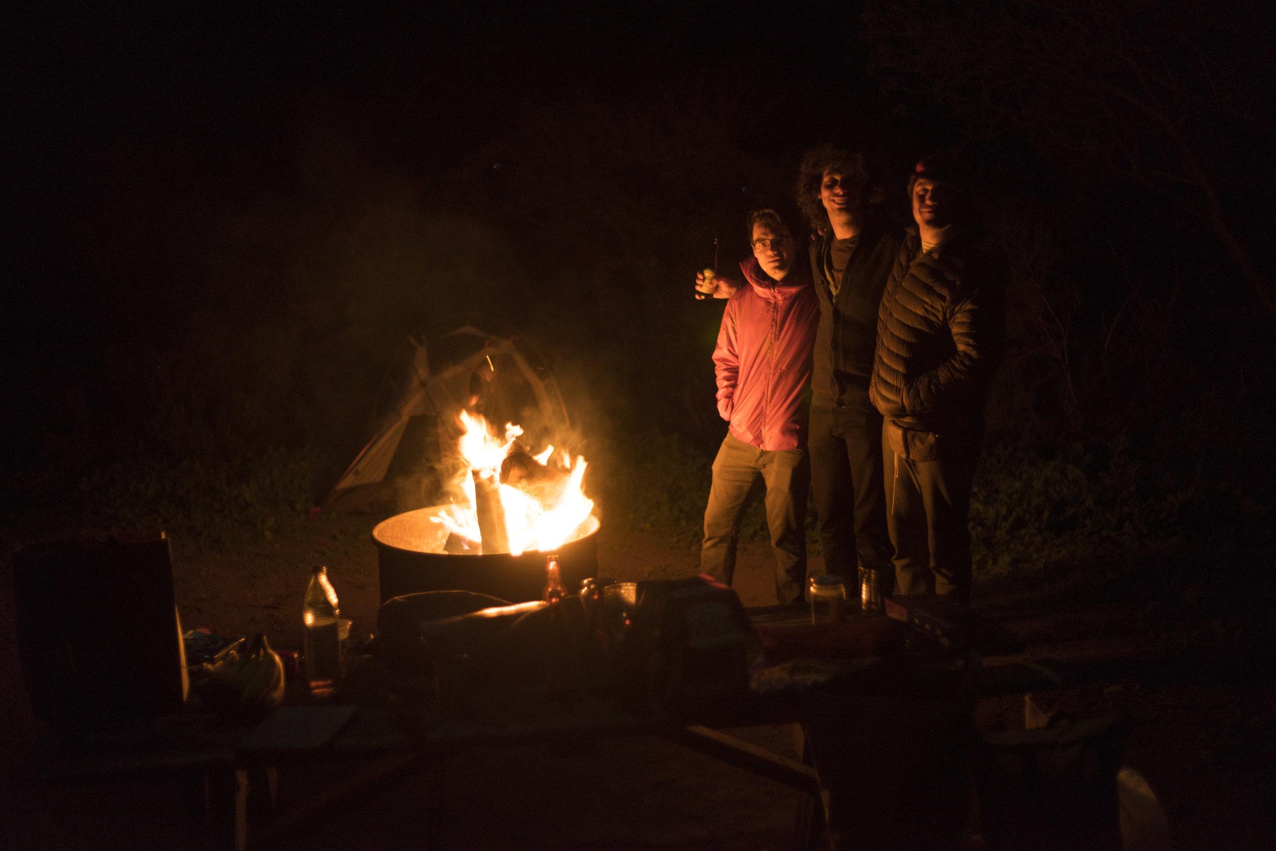 Me, Luke, Kai. On a camping trip. Photo by Bobby W.