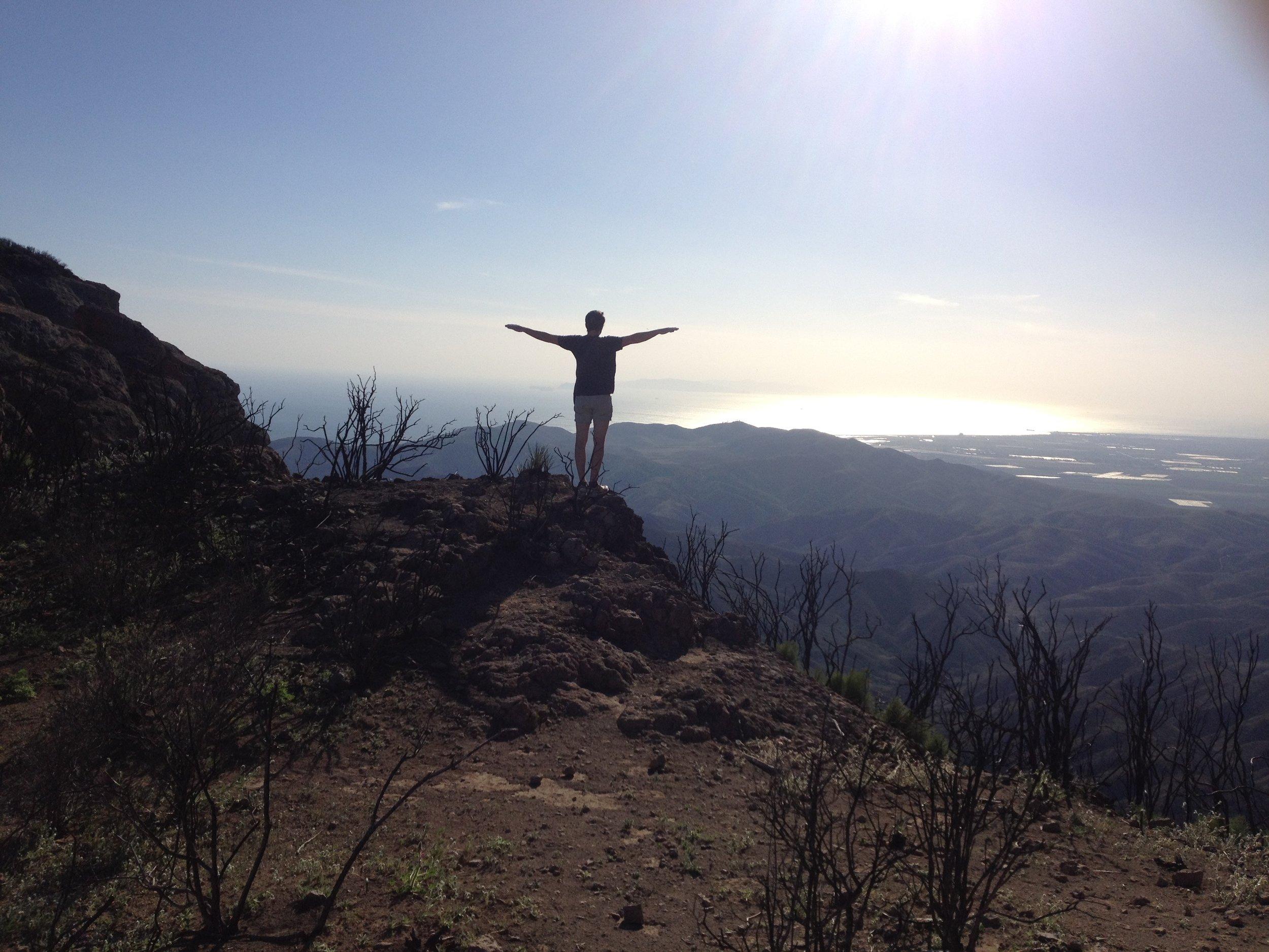 Kai. On a hike to Sandstone Peak in Malibu. Photo by me.