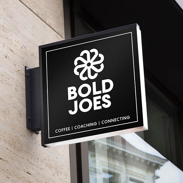 Retail sign for Bold Joes. Link in profile. #bartlettcreative #branddesign #logo