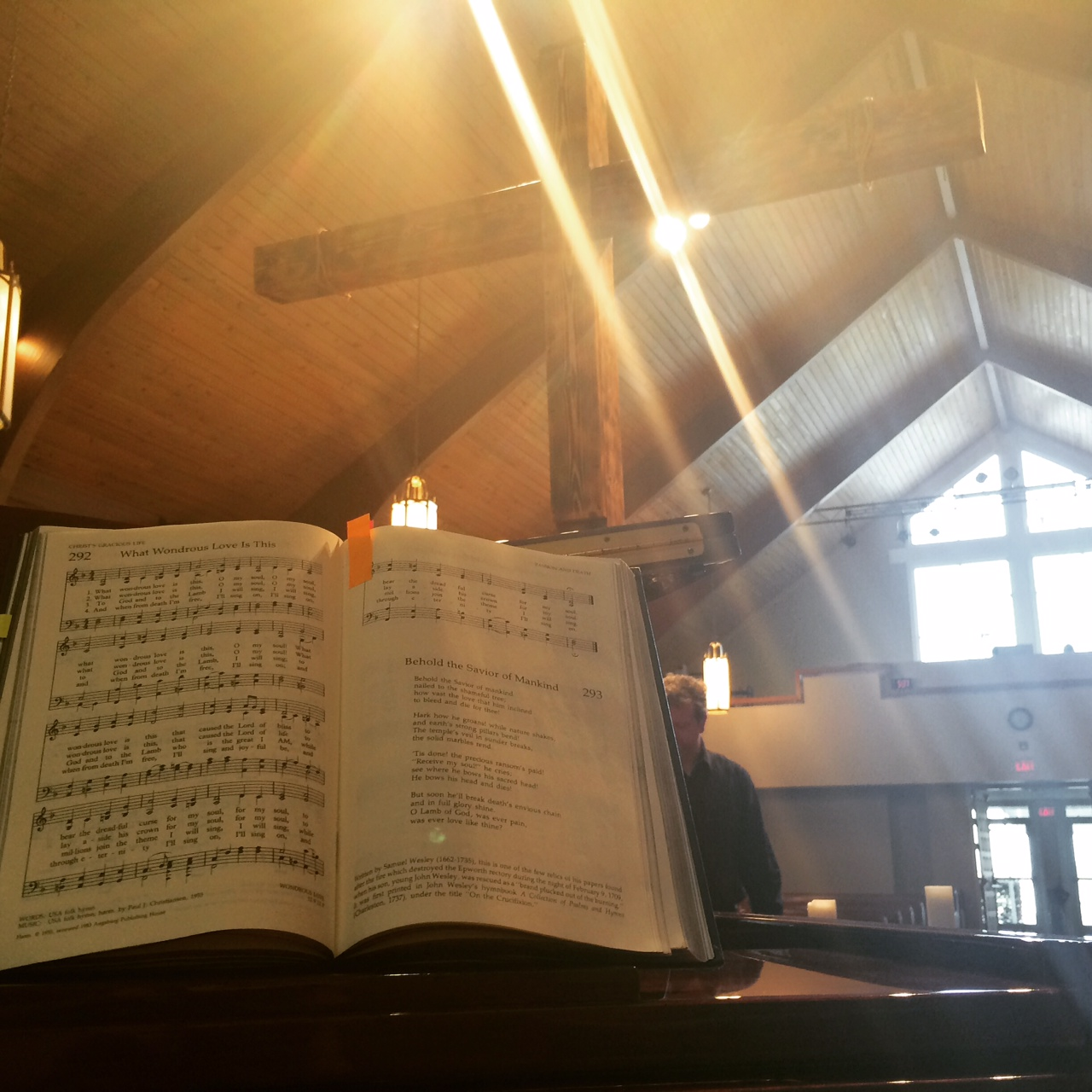 Our new music minister at OUMC walked us through the steps for Good Friday in rehearsal the other evening.
