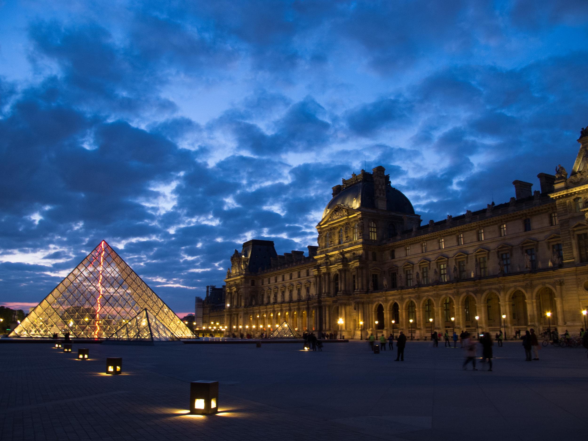 Louvre at Dusk, Paris