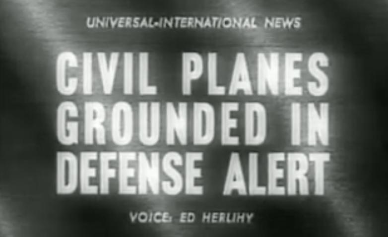 Newsreel frame from Universal Newsreels, Youtube (https://www.youtube.com/watch?v=_bSJyADeWk4)