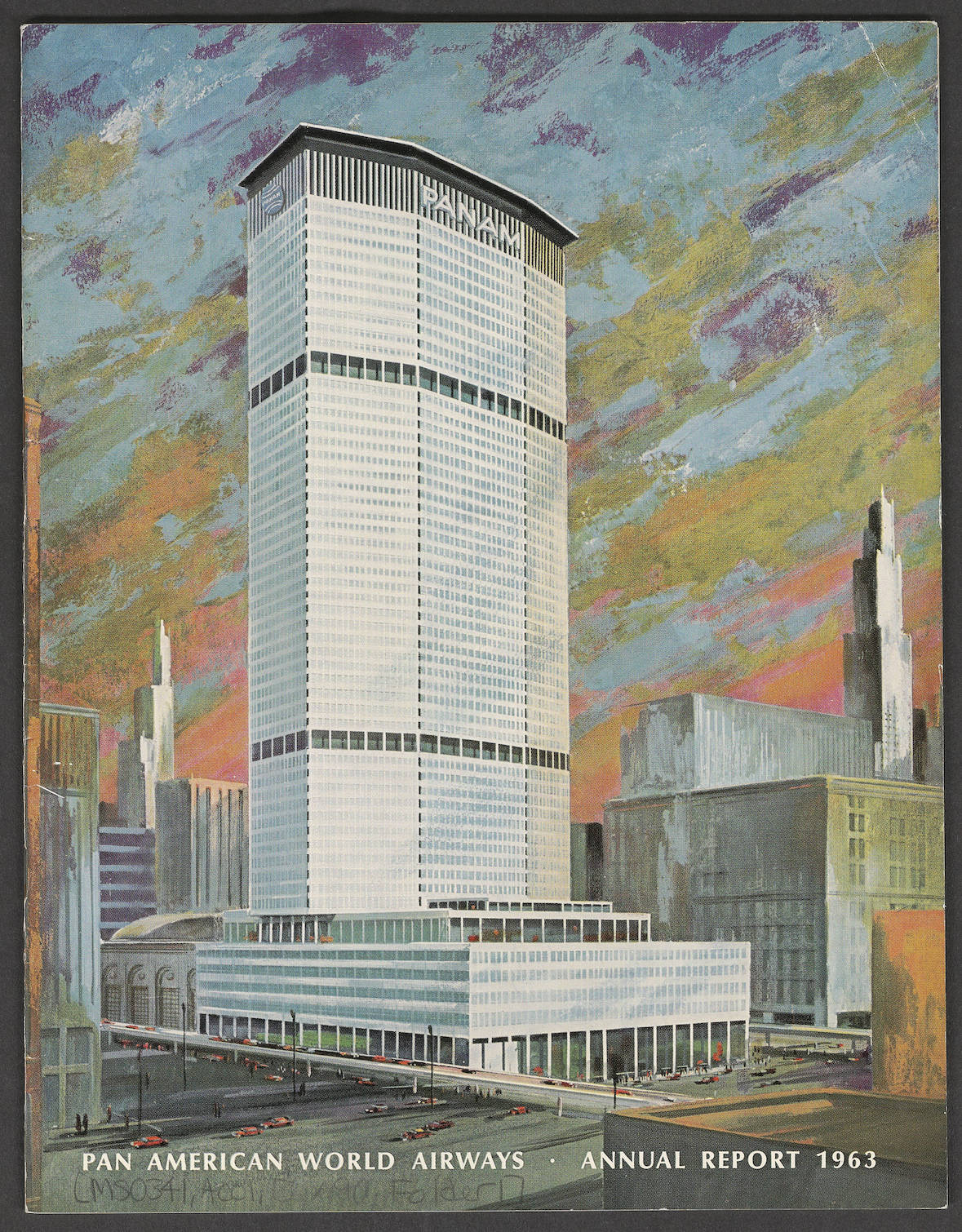 1963 Pan Am Annual Report Cover