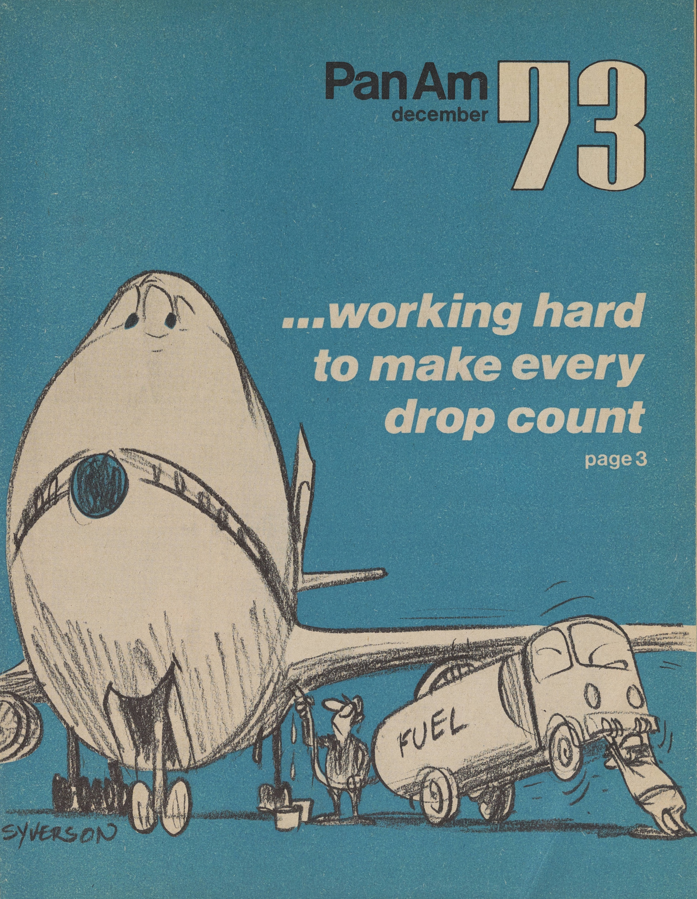 "Pan Am ""Clipper cover, December 1973."
