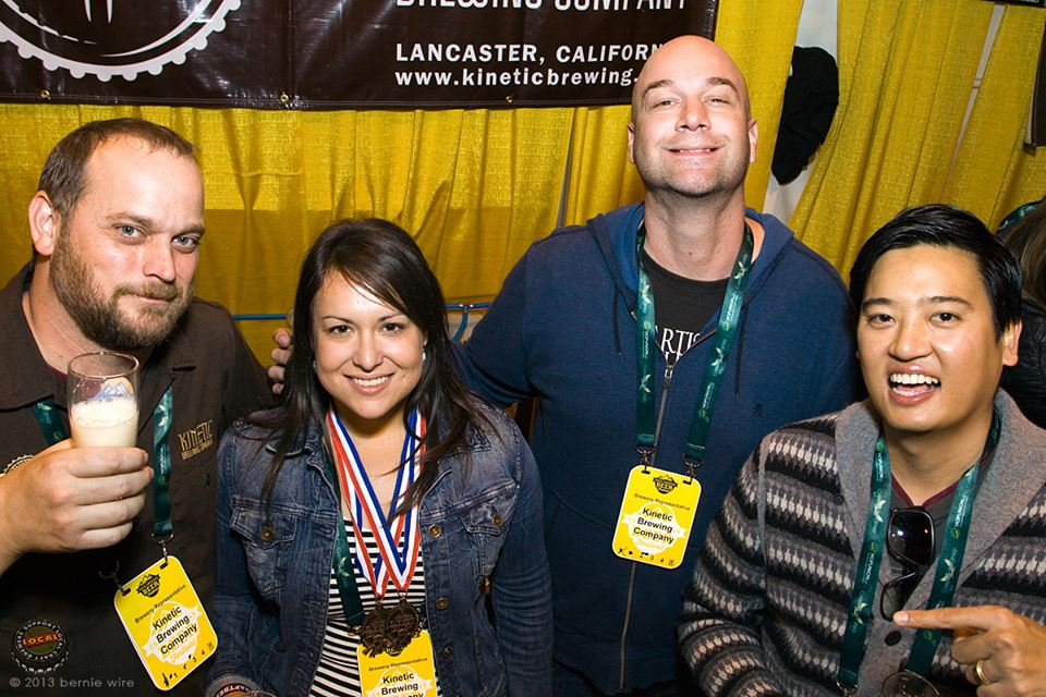 In the GABF festival hall, after taking home two bronze medals for Kinetic Brewing Co. (2013).  Photo: Bernie Wire