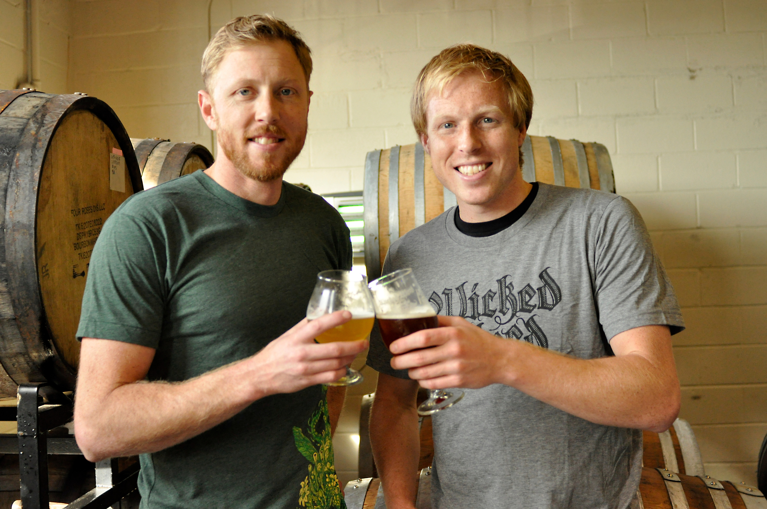 Brothers Walt and Luke Dickinson (from left) - co-founders of Wicked Weed Brewing
