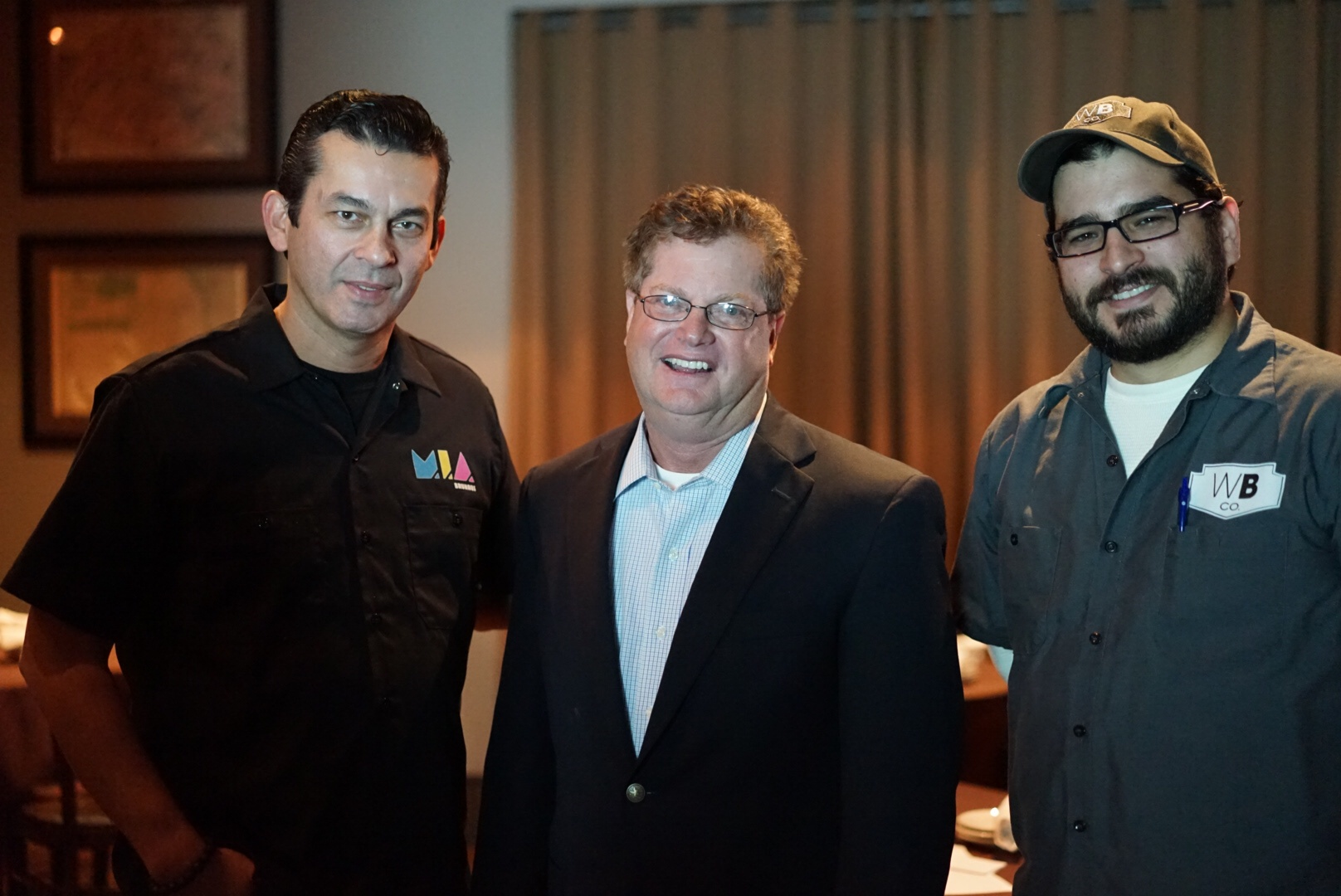 From Left: Eddie Leon (MIA Brewing); Mitch Rubin (FBWA); Luis Brignoni (Wynwood Brewing)