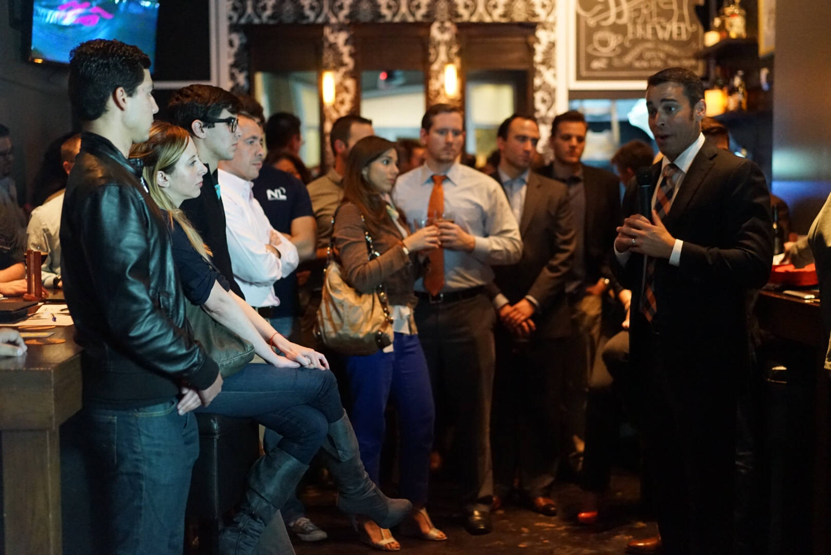 Representative Erik Fresen addressed the Miami Young Republican's Craft Beer Summit Attendees