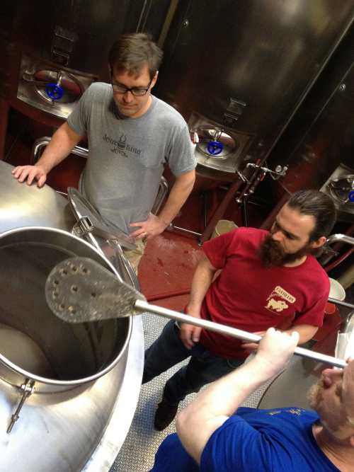 Jeffrey Stuffings (far left) Founder of Jester King.  Photo Credit: Jester King Brewery