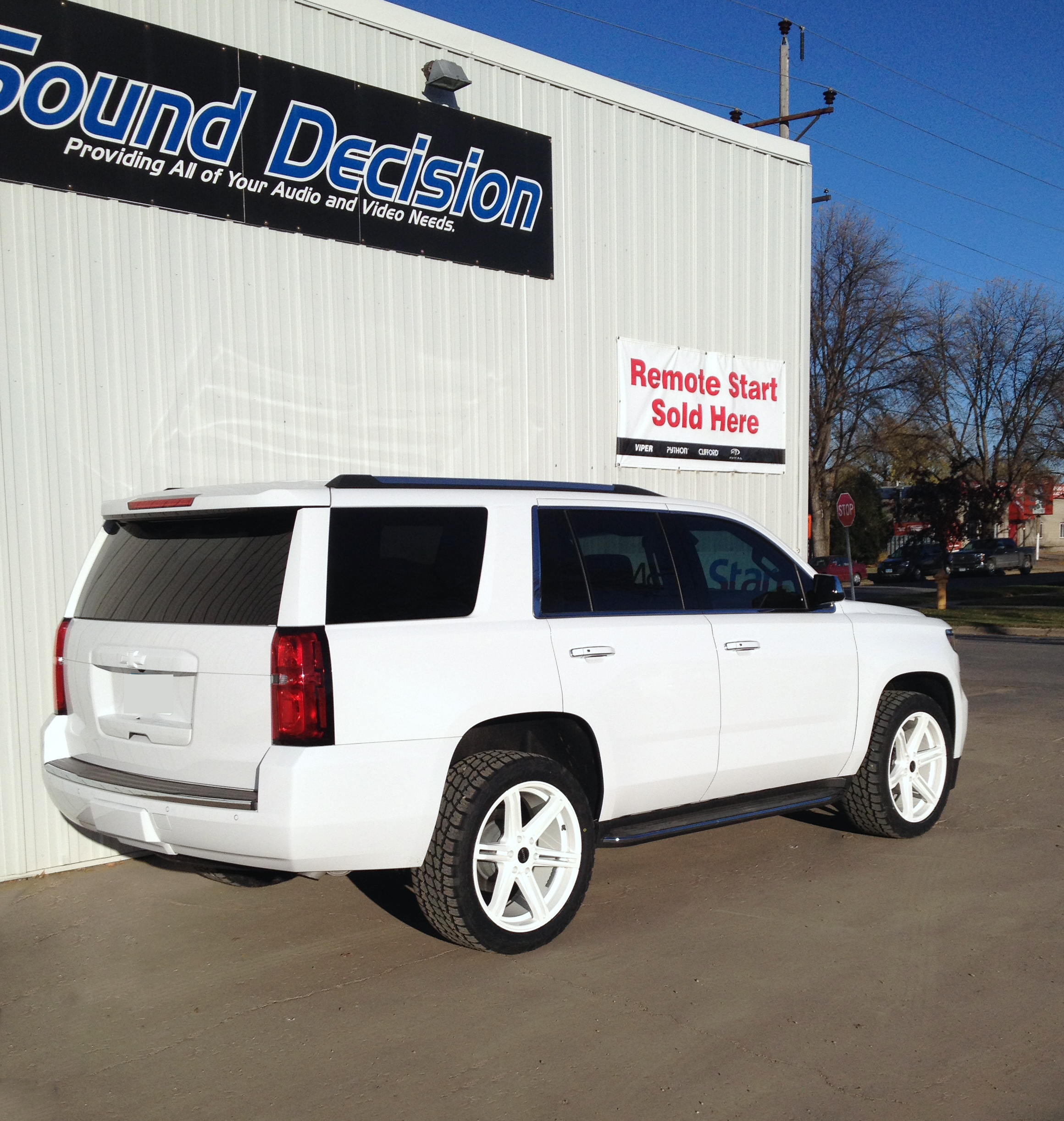 2015 Chevy Tahoe Custom Powder Coated KMC Wheels, Stripped Emblems, Painted Bowties to Match