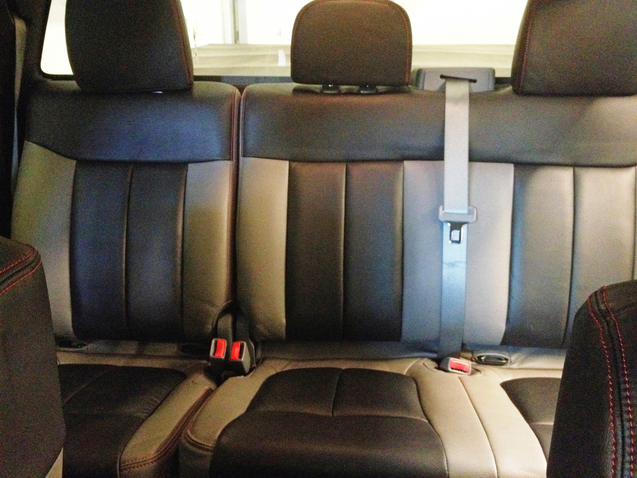2012 Ford F150 Custom Leather Interior with Red Stitch