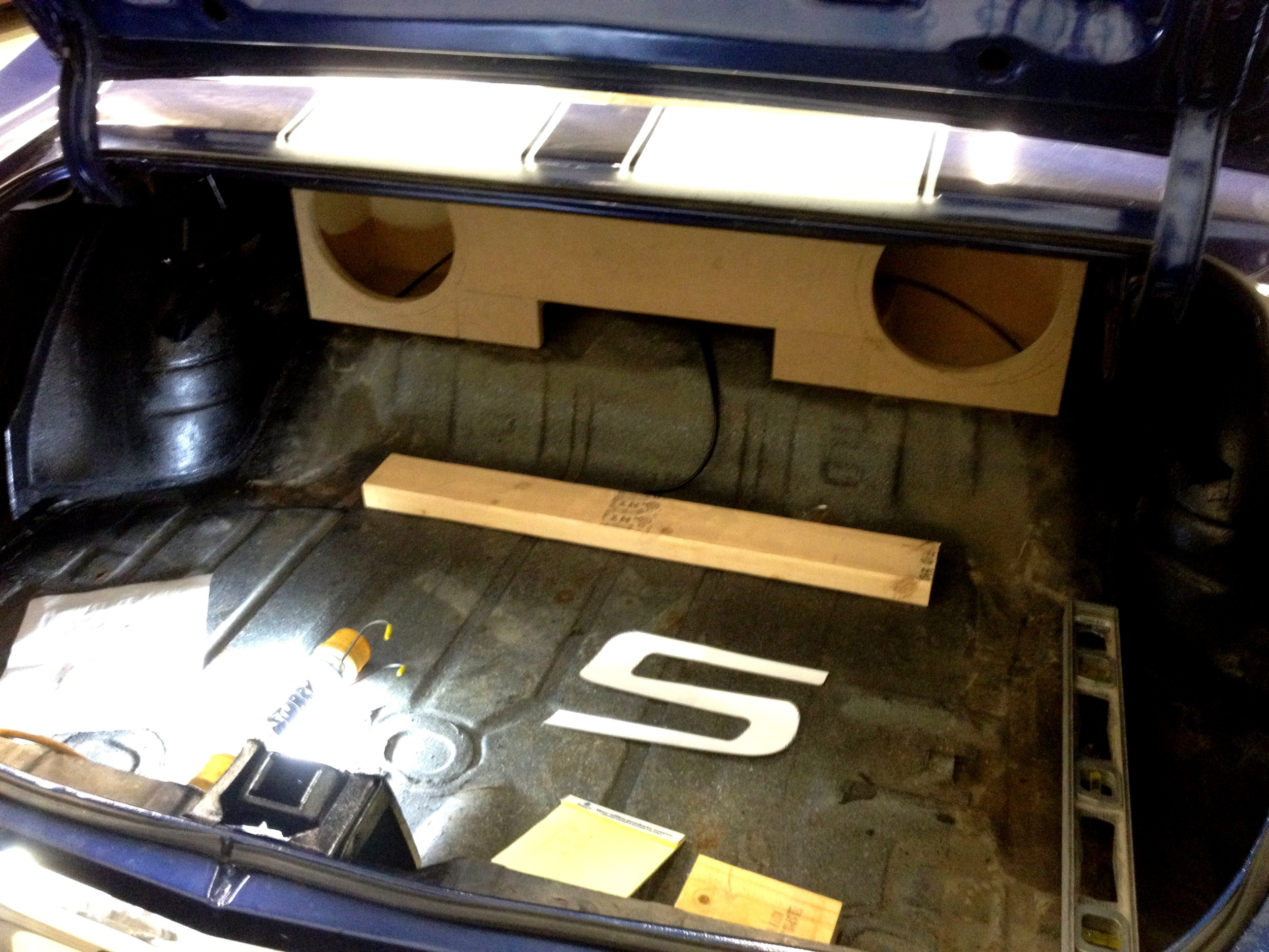 1972 Chevelle - BEFORE Custom Trunk Finish with Subwoofer Enclosure