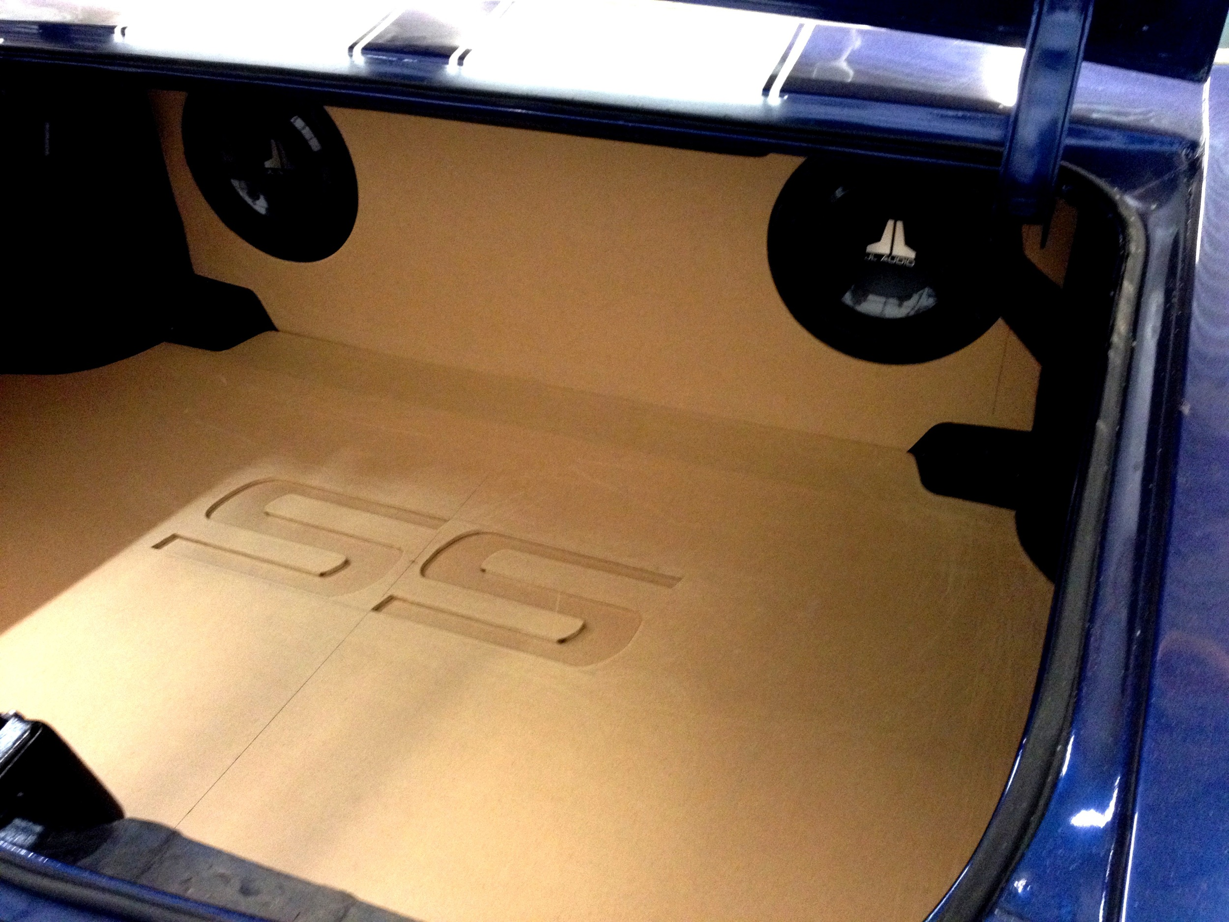 1972 Chevelle - DURING Custom Trunk Finish with Subwoofer Enclosure