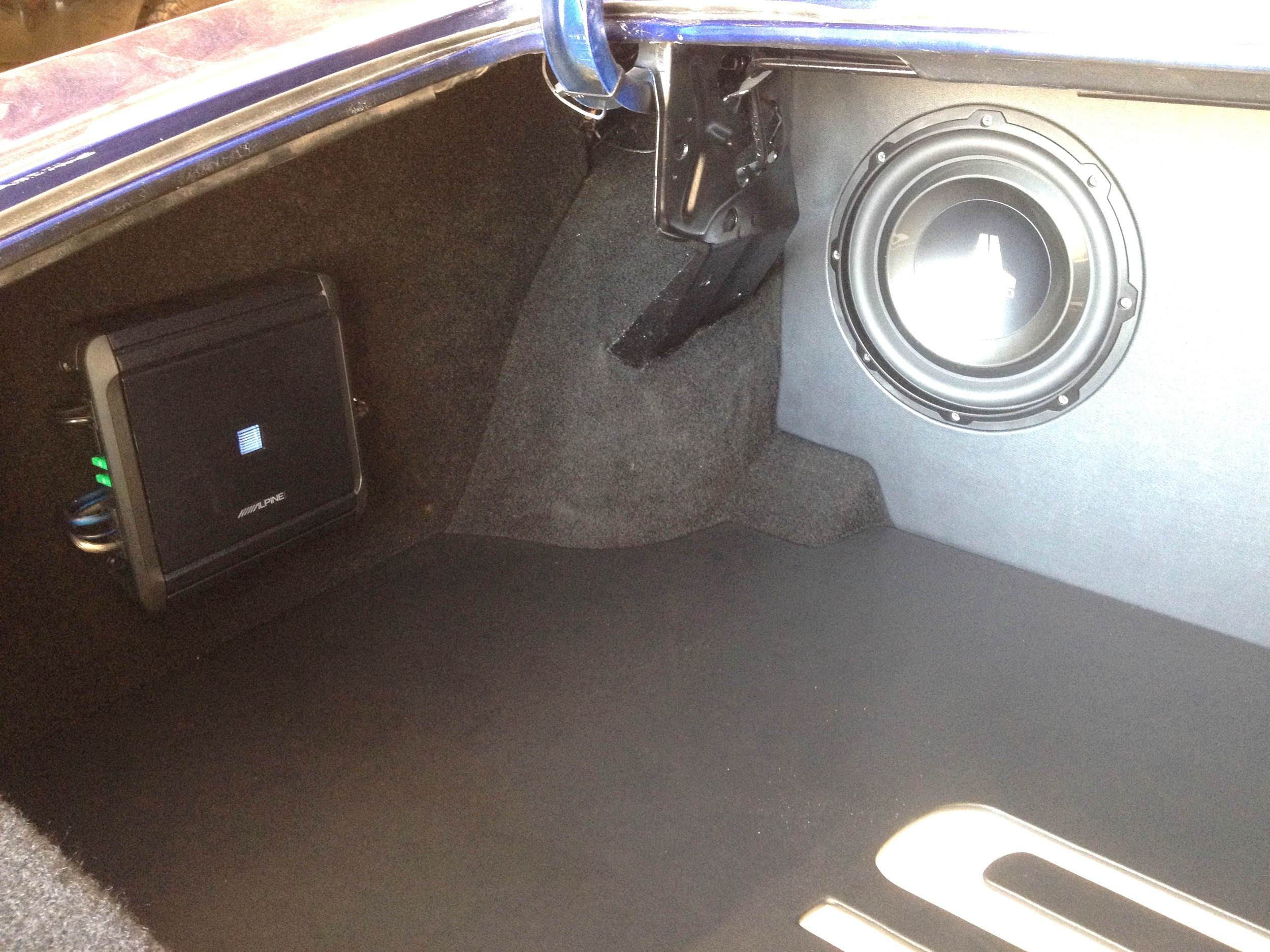 1972 Chevelle - Custom Trunk Finish with Subwoofer Enclosure
