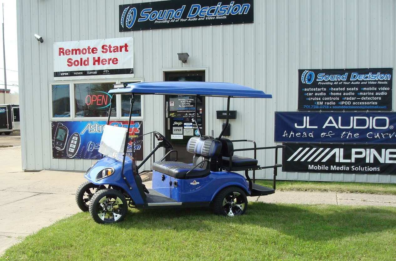 Golf Cart - Custom Stereo, Video & Lighting Installation