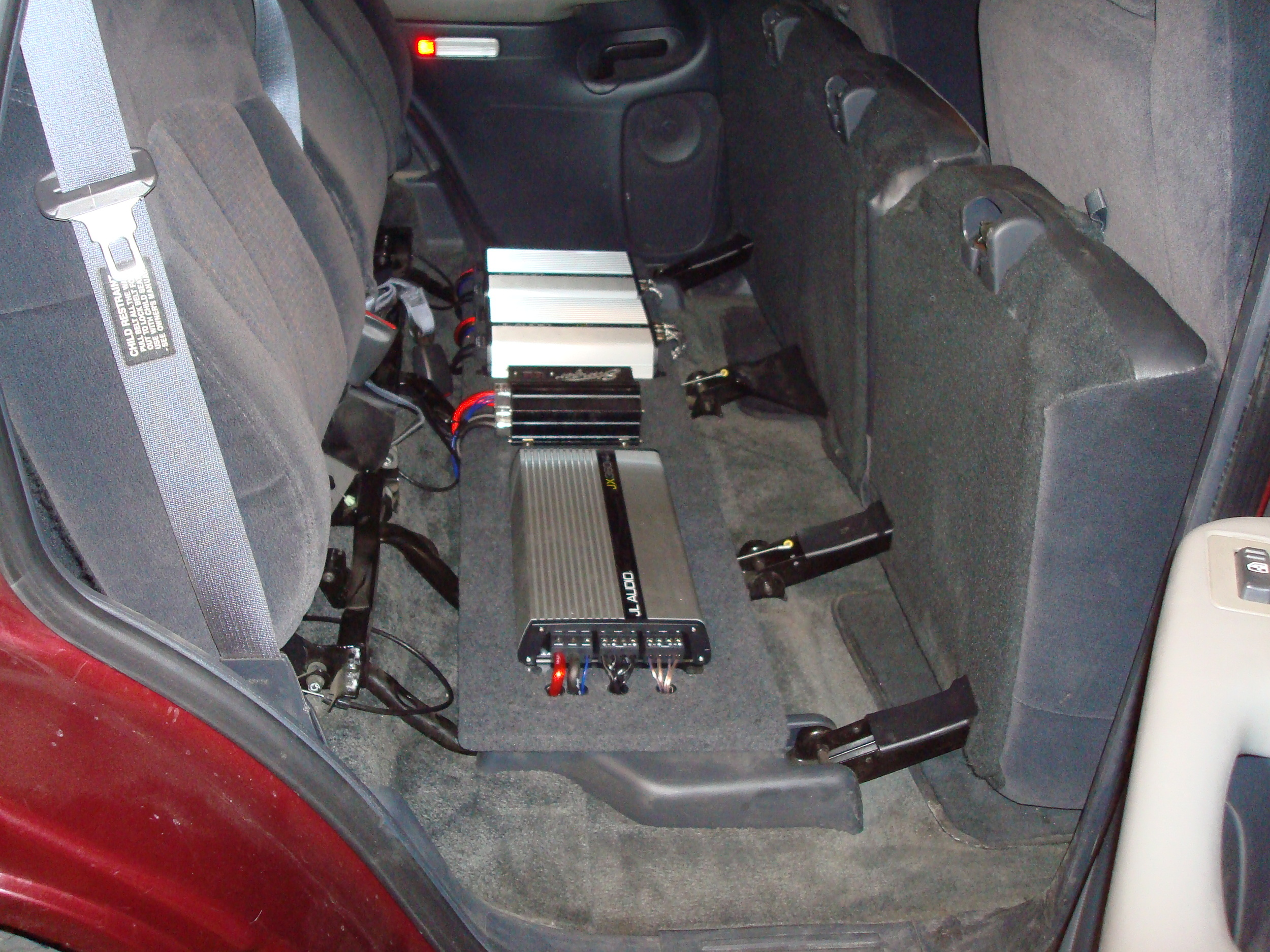 2001 Tahoe - Amp rack under the seat
