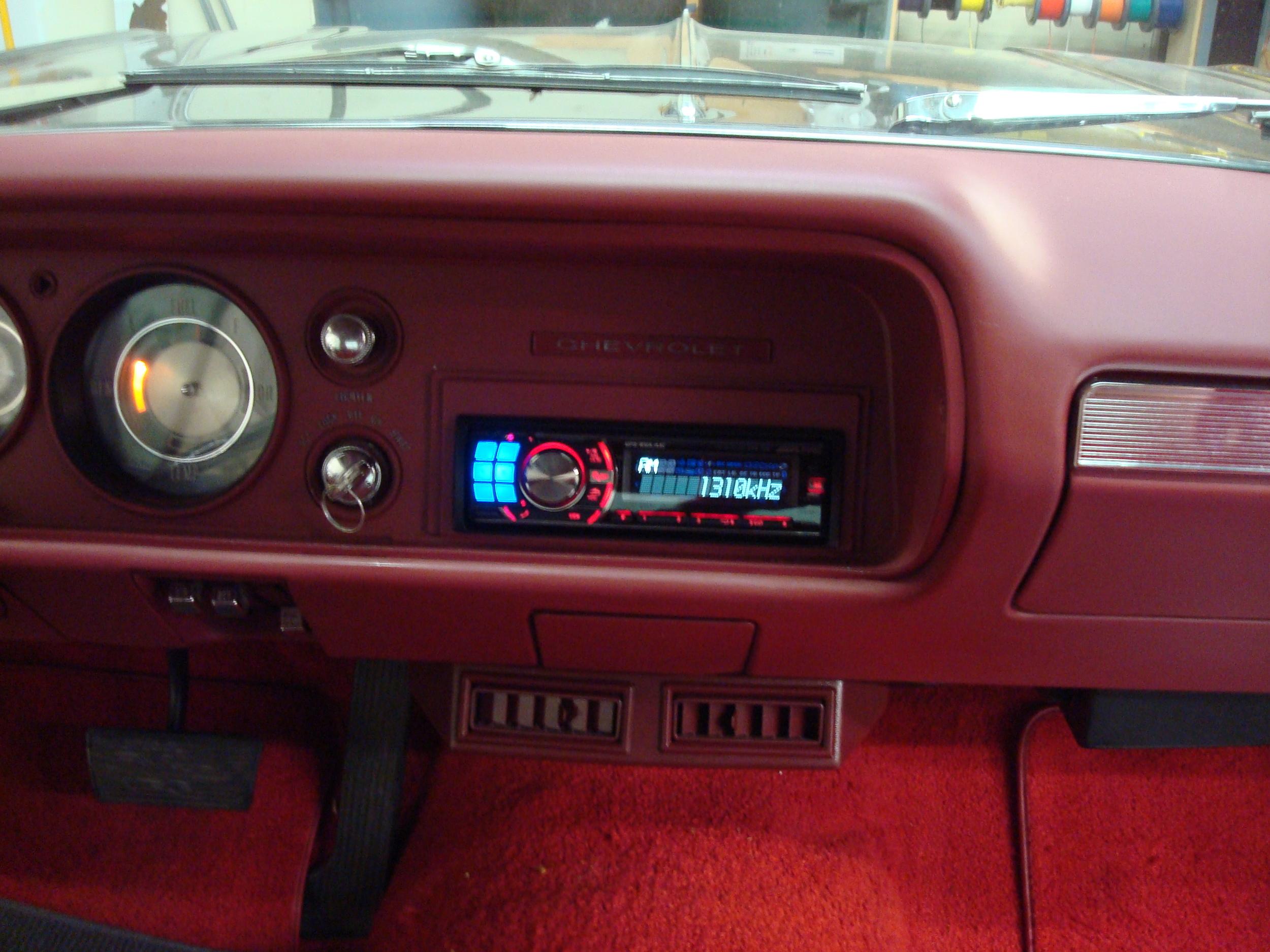 1964 Impala - Cut-In & Wire Alpine Head Unit