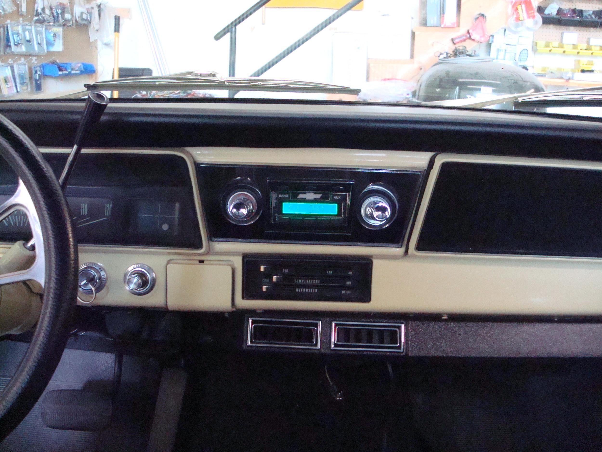 1967 Chevy II Wagon - Head Unit Installation, Factory Location
