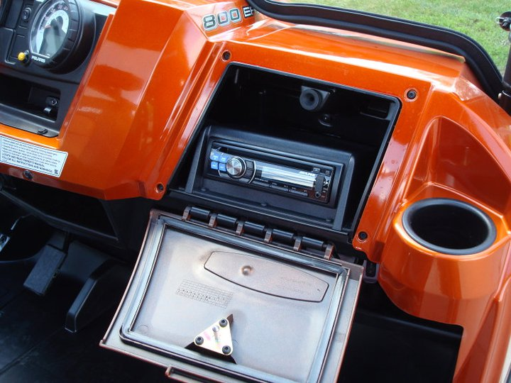 Alpine CD Receiver in the Glove Box